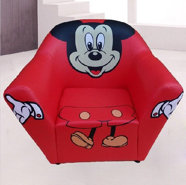 2018 Mickey Mouse Kids Seating Bag Sofa Furniture Chair Pu Leather