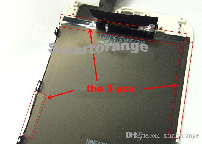 iPhone 6 4.7(10個)の1液晶画面表示ブラックカプトンテープ帯電防止ステッカーストリップ