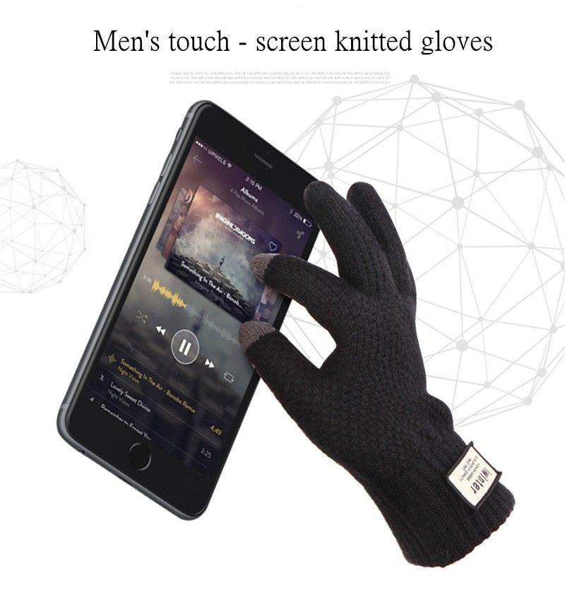 Luxus iwinter Anti-Rutsch-Kapazität Touchscreen Handschuhe warme Winter Driving Handschuhe Touchscreen für iPad iPhone Samsung HUAWEI Xiaomi