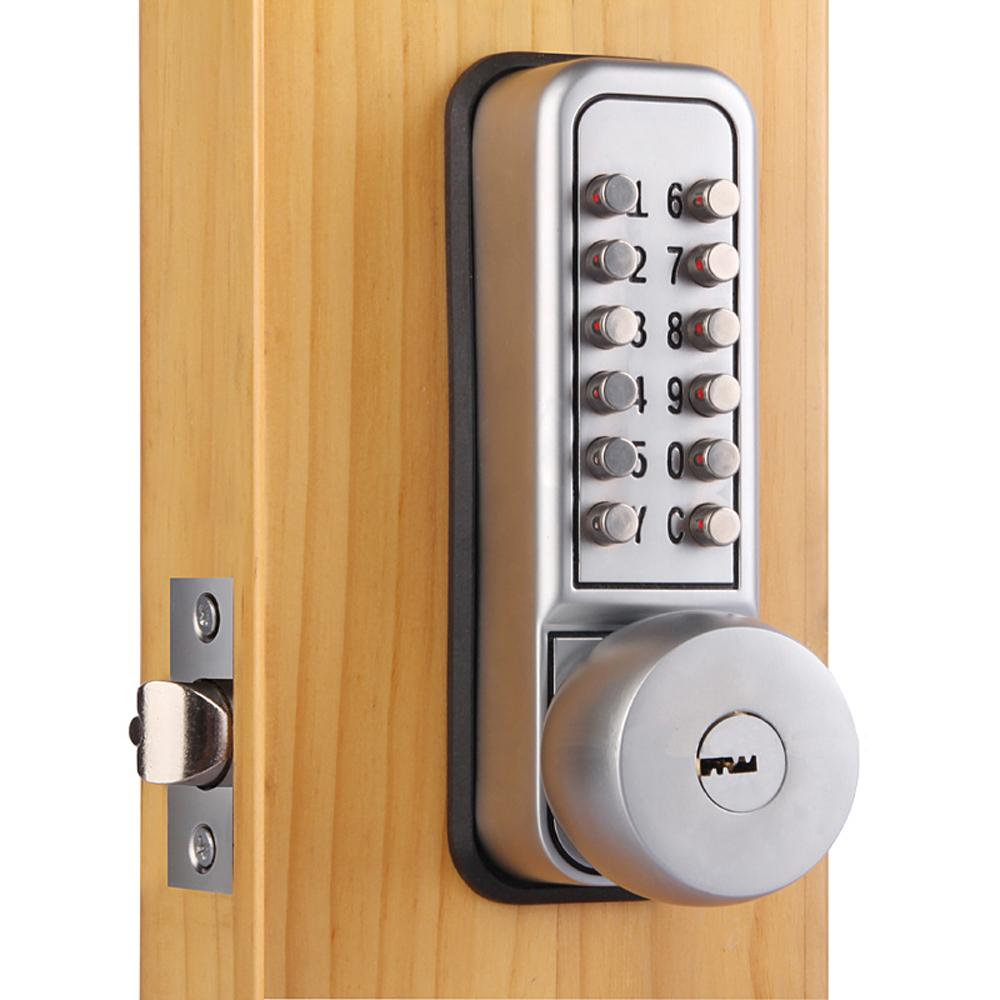 Mechanical Keypad Digital Code Security Door Lock Push button Handle with  Keys