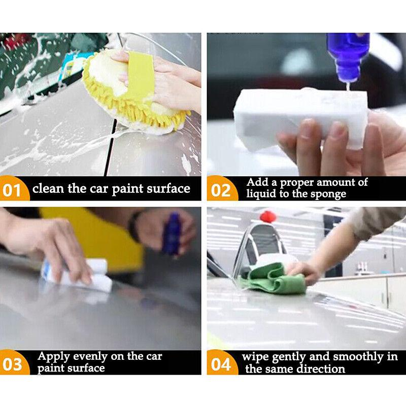 30ML Anti-scratch Car Liquid Ceramic Coat Super Hydrophobic Glass Coating Car Polish 9H dureza Envío gratis