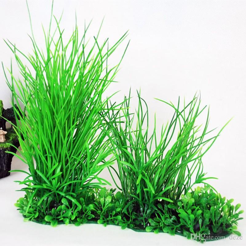 Green Live Aquarium Artificial Plant Ornament PLASTIC PLANTS Fish Tank Paesaggio Piante acquatiche Erba Decorazione Decor