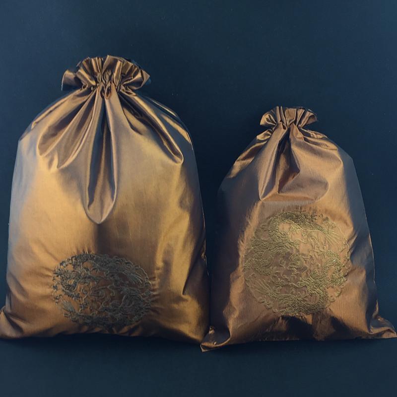 Прекрасный Вышитый Дракон Многоразовый Мешок Пыли для Обуви Ткань Сумка Для Хранения Китайский Шелковый Шнурок Сумка Для Обуви 50 шт. / Лот