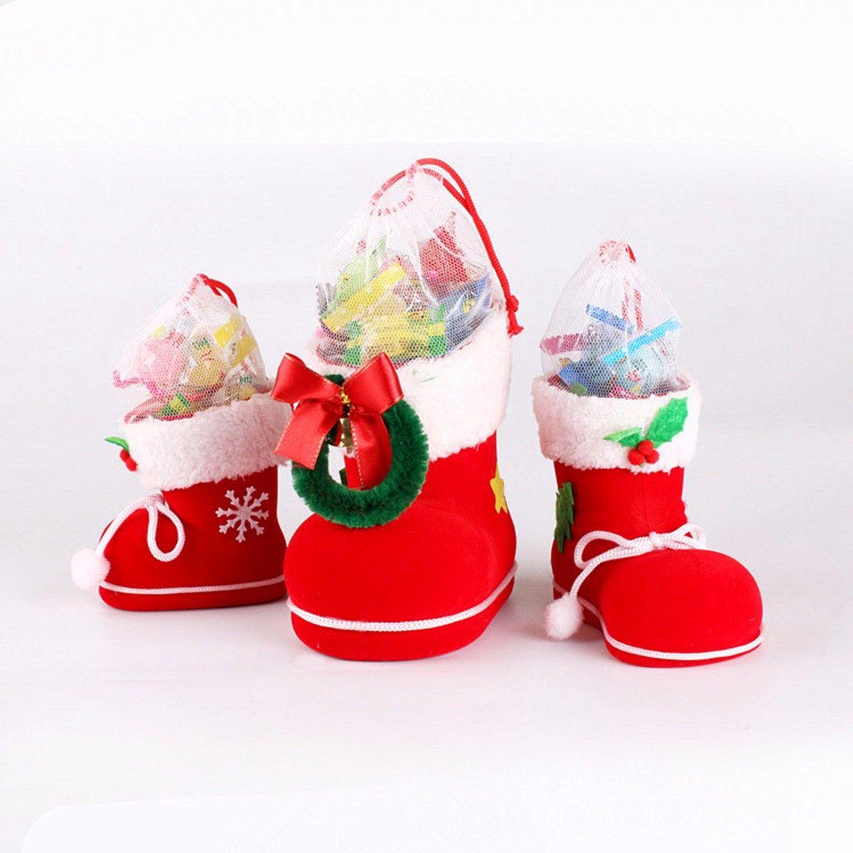 santa pants elf spirit boots shoes christmas candy bag sack