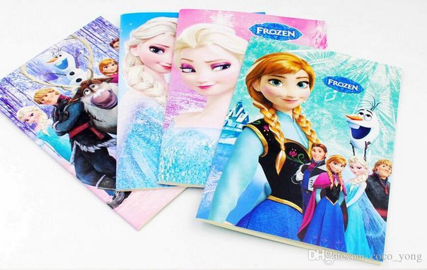 Frozen Cartoon 55x4 Kids Coloring Book With Stickers Drawing Children Gift Free Shipping