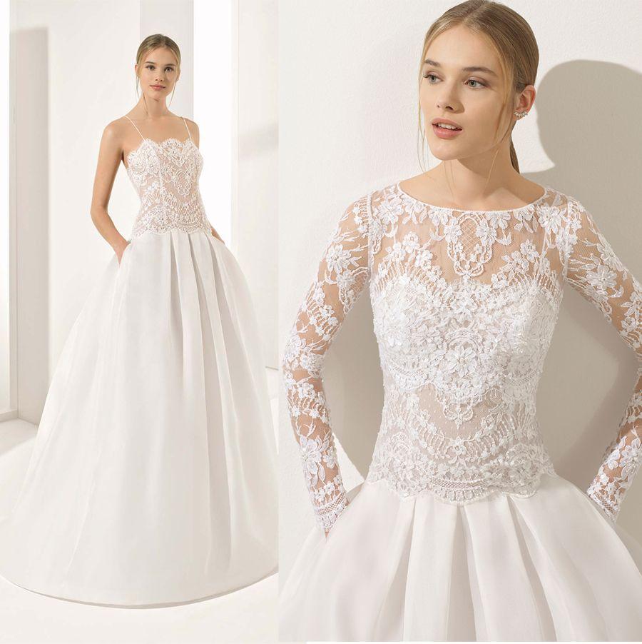 Discount Drop Waist Princess Wedding Dresses 2018 Rosa Clara