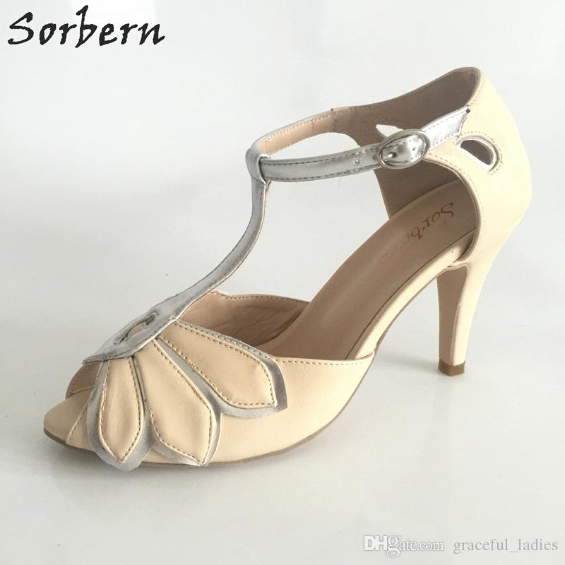 Vintage Mint Свадебная обувь Свадебные туфли на каблуках Mimosa Пряжка Закрытие Кожа Party Dance 3