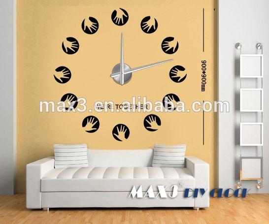 Original Brand Fashion 3D Big Size Wall Clock Mirror Sticker DIY Brief Living Room Decor Meetting Stickers Wallpaper