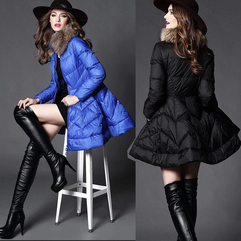 2018 Womens Lady Bubble Skirt Dress Coats Winter 90%duck Down ...