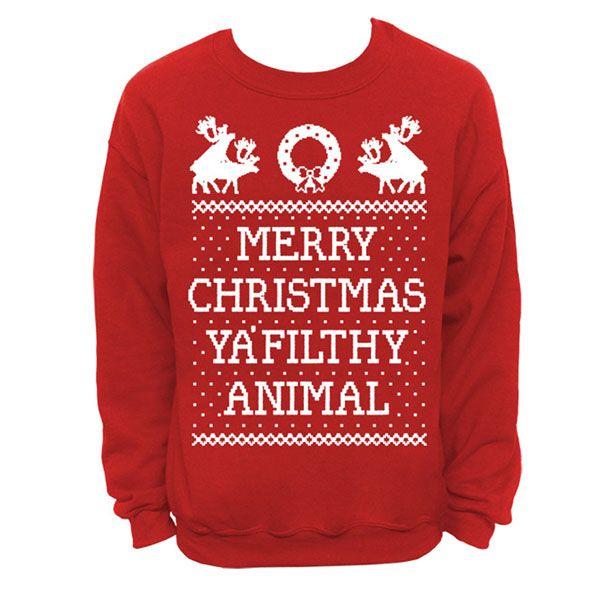 Buchstabe-beiläufiges langes Hülsen-WeihnachtsSweatshirt