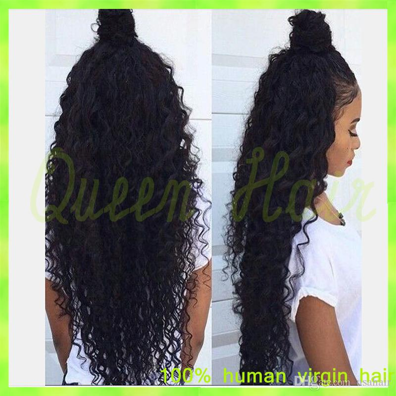 6A glueless full lace human hair wigs for black women curly lace front wig brazilian virgin human hair bleached knots baby hair