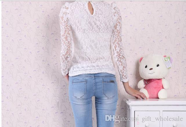 Blusas Moda Blusa De Renda Blusas De Senhora Blusas De Renda Blusa De Pérola Preto Branco Bege Senhora Tops