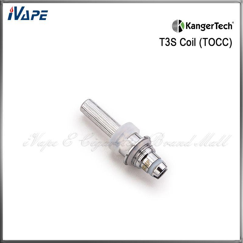Unidad original de bobina Knager Cabeza de bobinas de repuesto TOCC para atomizador T3S TOCC Bobina de algodón orgánica 1.5 1.8 2.2 2.5ohm