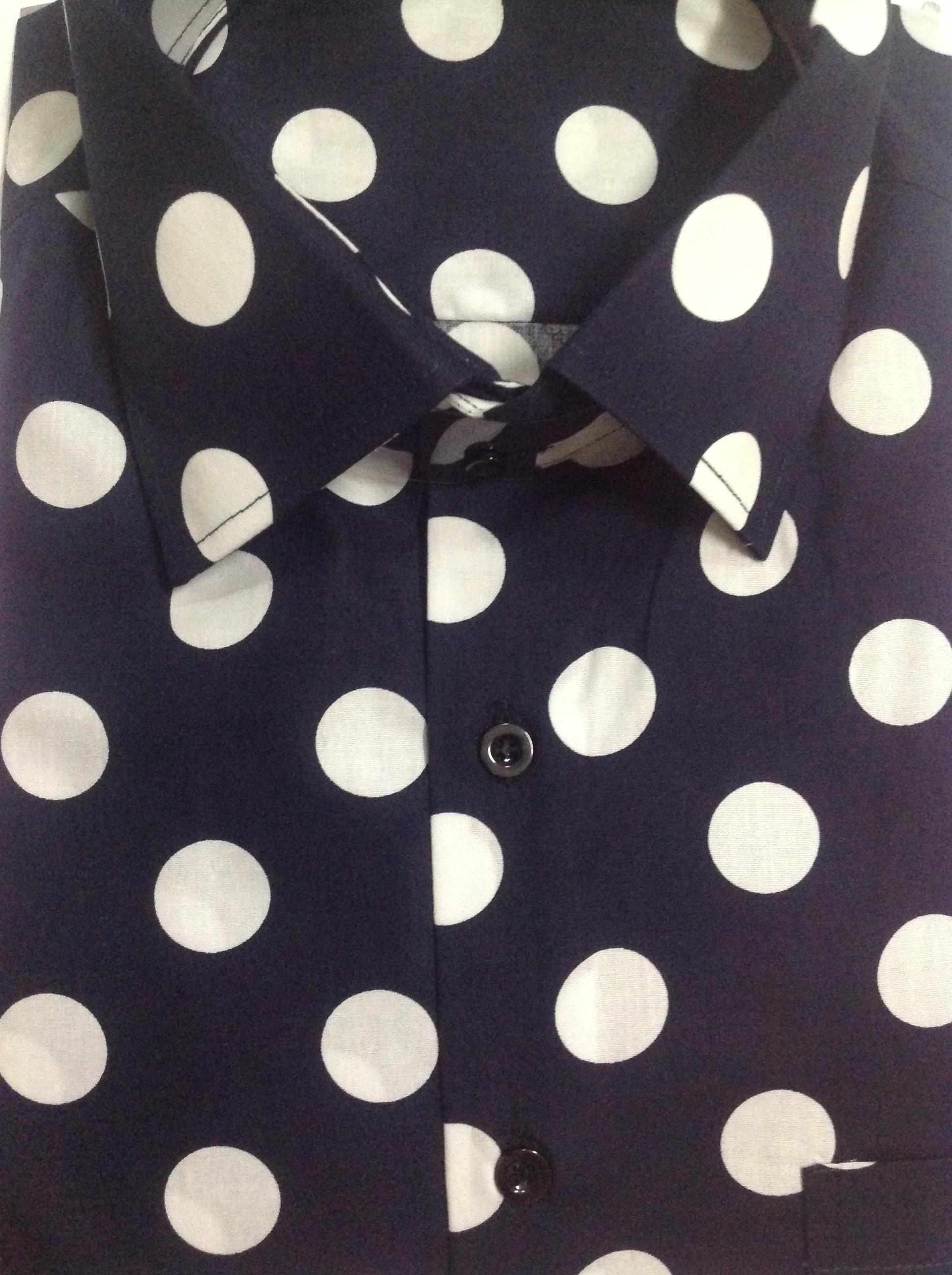 2017 Mens Polka Dot Dress Shirt Custom Made 100% Cotton Mens Polka ...