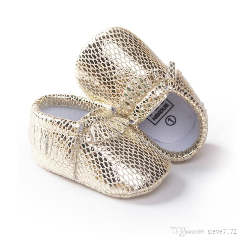 Wholesale Baby Boys Moccasin Leather Baby Shoes Brown Toddler First Walkers Soft Comfortable Cheapest Children's Shoe