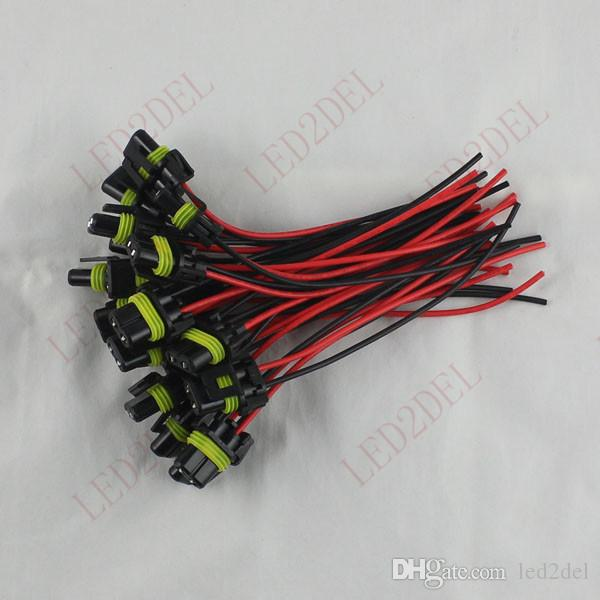 9006 HB4 LED Halogen SMD High Power Fog Light bulb lamps Conversion Pigtail Connector Extension Wiring Harness Plug Socket