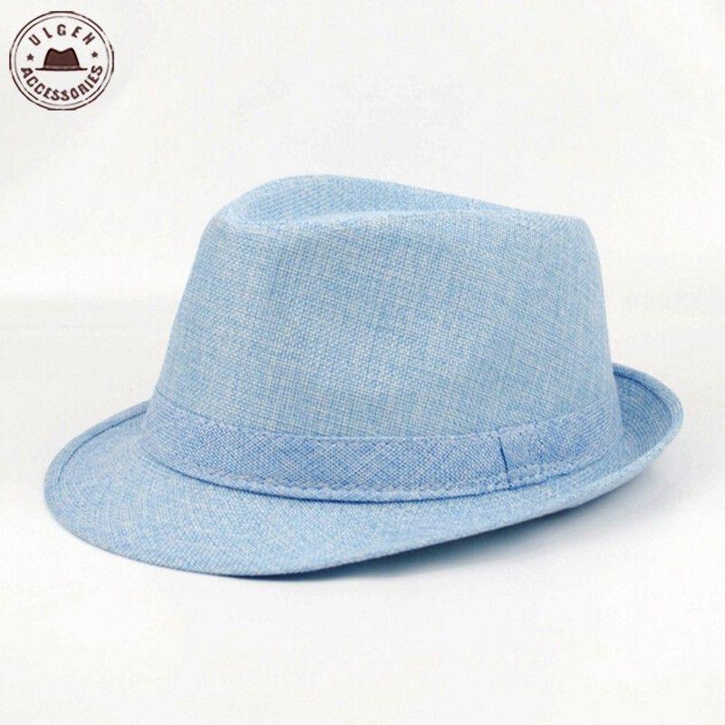 2019 Wholesale Men S Fedora Hat Summer Jazz Fedoras Hat For Men  Classic Linen  Fedora Hat Wholesale HUB154g From Fashionkiss 1c5e4540815