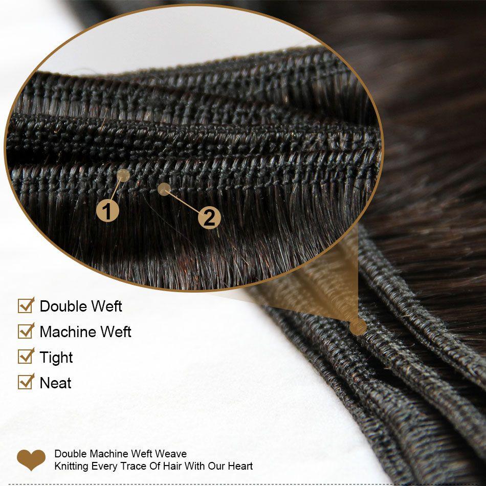 Ombre Estensioni dei capelli umani Vergine Brazilian Peruviano peruviano Malesiano indiano Onda del corpo indiano 3 Tre Tone Brown Blonde 1b / 4/77 # Ombre Capelli Tessuti Bundles