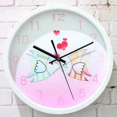 0b2df2dc67e Compre Romântico Doce Pro Boca Peixe Moda Chinês Rústico Breve Estilo  Relógio De Parede De Quartzo Relógio De Mesa De Yiyu hg