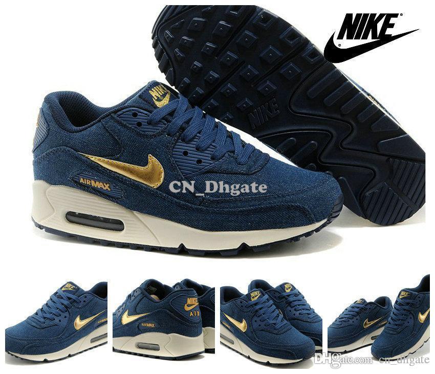 new arrival 209b0 b3222 spain nike air max 90 mens running shoe fashion white black red gold blue  bd08f a35f6
