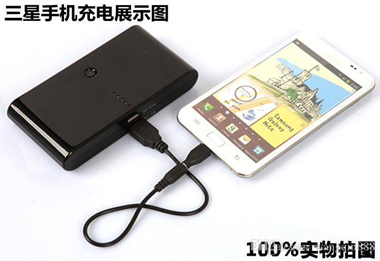 New Style 20000mAh Power Bank 2 USB External Battery With LED Portable Power Banks Charger For iPhone 6s Samsung s6 Android Phones
