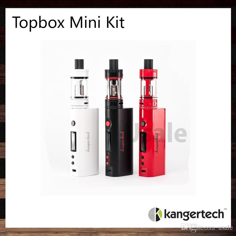 Kanger topbox mini starter kit com kbox mini 75 w tc mod 3.5 ml toptank mini atomizador top controle de fluxo de ar de enchimento 100% original