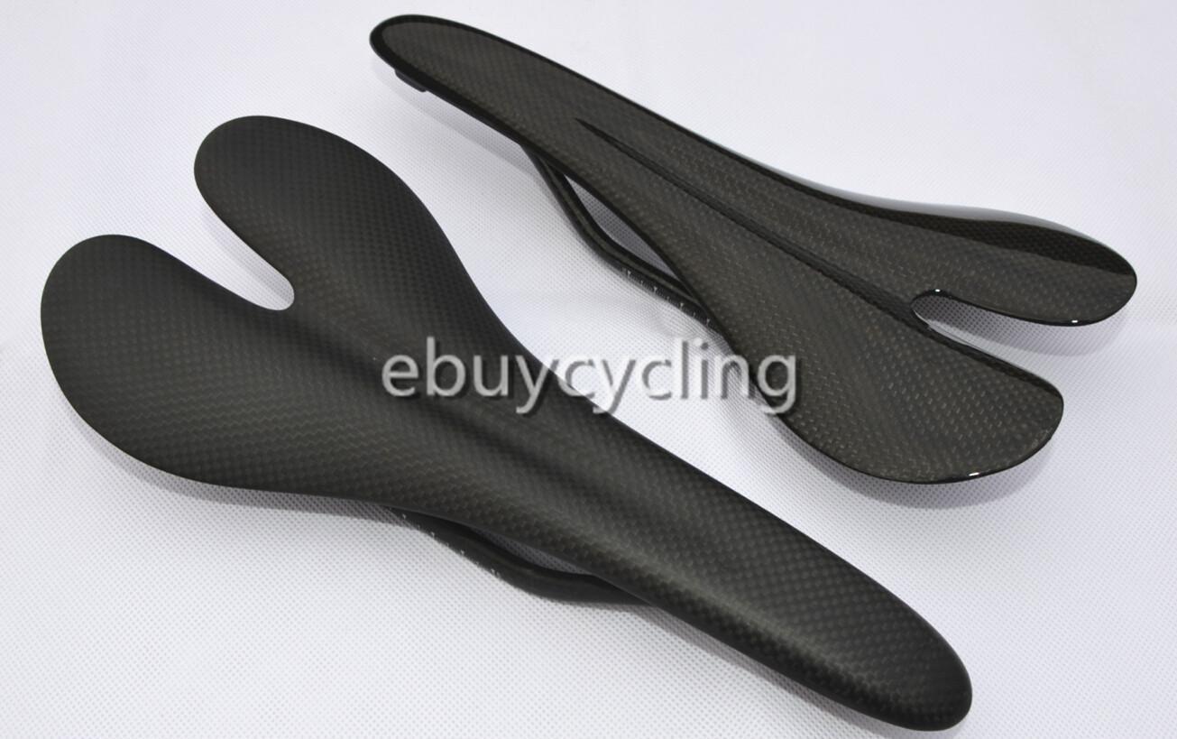 Selle de vélo en carbone noir pour bricolage peinture vélo de route léger en carbone siège de vélo de route coussin de vélo en fibre de carbone complet siège de selle