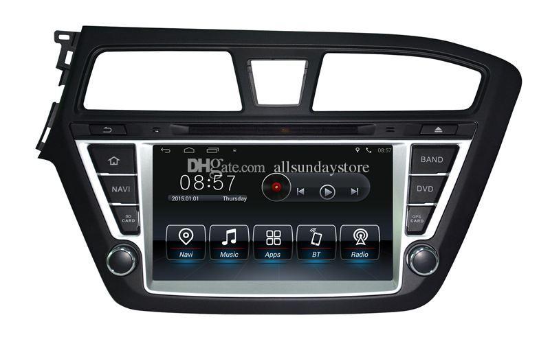 Lecteur DVD de voiture Android 5.1 pour Hyundai i20 2015 avec navigation GPS Radio Bluetooth USB SD AUX WiFi 3G Audio Vidéo Stéréo