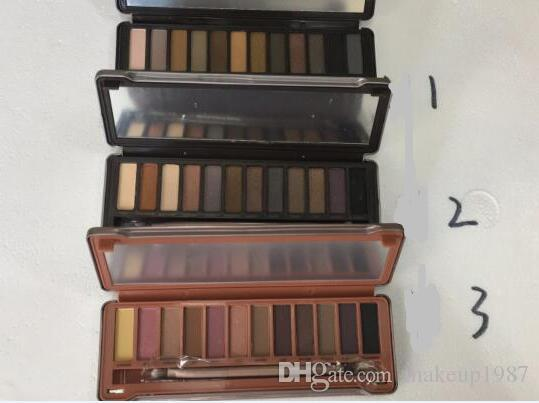 Naked eye shadow pallet smoky makeup NO:1 2 3 5 Palette 12 color naked pallet Matte Natual eyeshadow Cosmetics