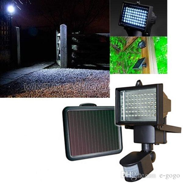 60led rechargeable solar panel security light outdoor floodlight see larger image aloadofball Gallery
