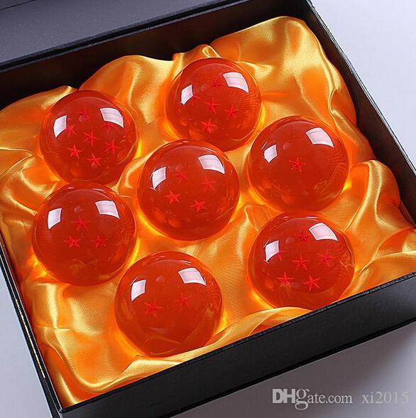 / Dragonball 7 Sterne Crystal Ball In Box Set von 7 Stück Dragon Balls Komplettset versandkostenfrei