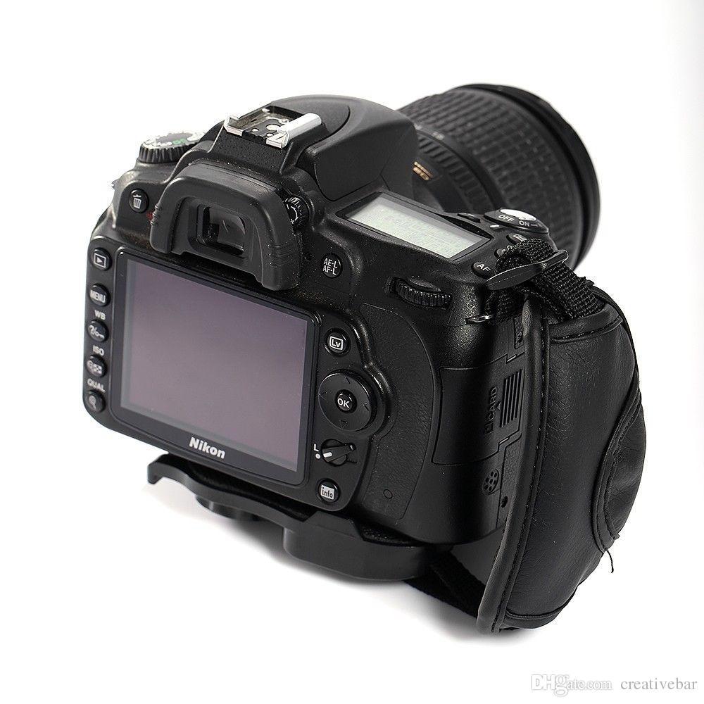 DSLR Kamera Deri Canon Nikon Sony Olympus için Deri Kavrama Bilek El Kayışı SLR DSLR Deri Yumuşak El Sapları sapanlar