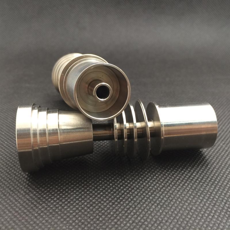 Titanyum Tırnak Domeless GR2 G2 Titanyum Çivi 20mm Isıtıcı Bobin Dnail için D-Nail WAX Buharlaştırıcı için ortak 14mm 18mm Cam Bong Su Borusu