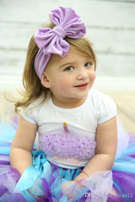 Joli bébé Accessoires De Cheveux Pour Le Bébé Bébé Dentelle Grande Fleur Arc Princesse Bébés Fille Bande De Cheveux Bandeau Bandeau Tête De Bébé Enfants