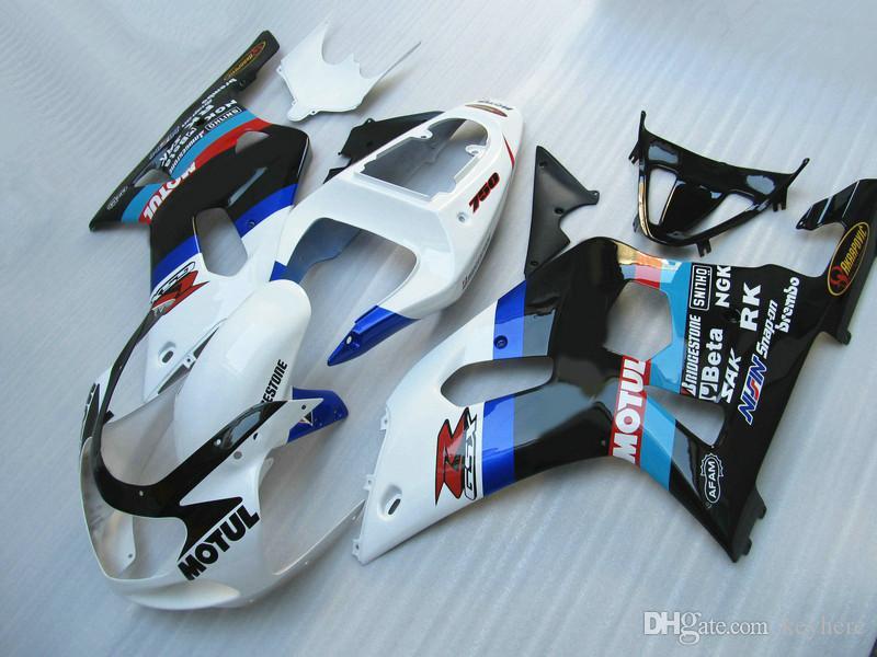 Bodywork Fairing för Suzuki GSXR 600 750 K1 GSX-R600 GSXR750 2001 2002 2003 00 01 02 03 Kunde lägga OEM-klistermärken