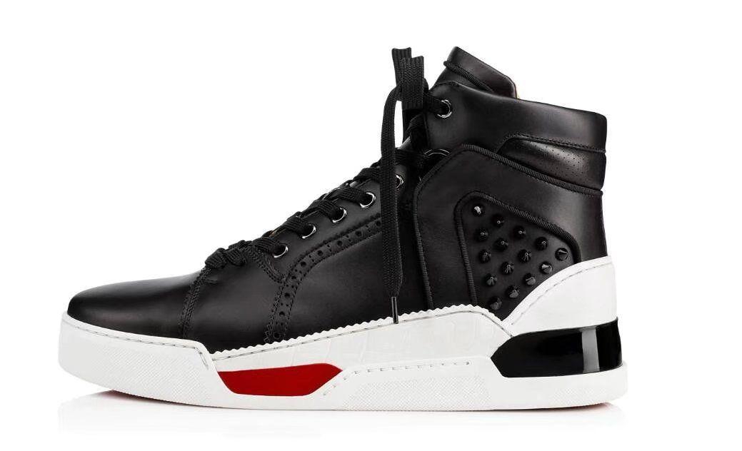Kırmızı Sole Beyaz Siyah Ayakkabı On 2020 Yeni Geliş Tasarımcı Donna Ayakkabı Adam Casual Sneakers Moda Çivili Dikenler Kayma