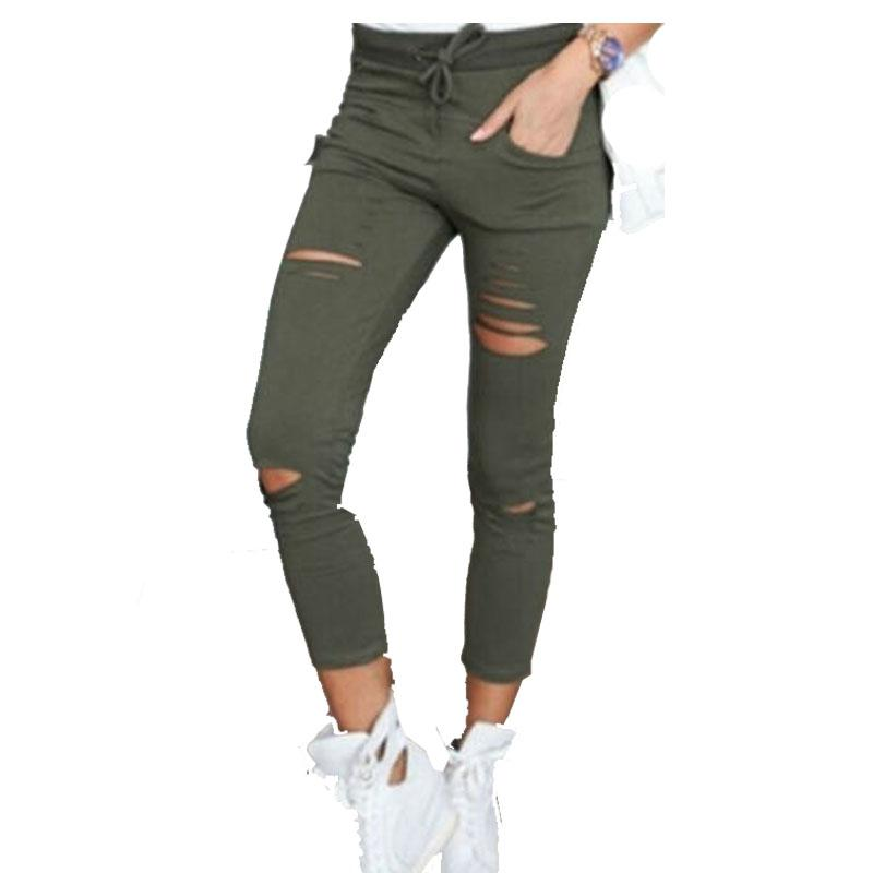 de9bebc88b1 Women Leggings Holes Pencil Stretch Casual Denim Skinny Ripped Pants High  Waist Jeans Trousers High Quality Jeans Trouse China High Waist Jeans Su  Cheap ...