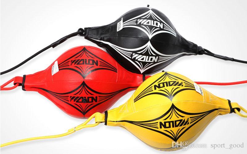 Neue Double End MMA Boxtraining PU-Leder Boxsack Geschwindigkeit Ball Boxing Punching Balls mit Gummiband