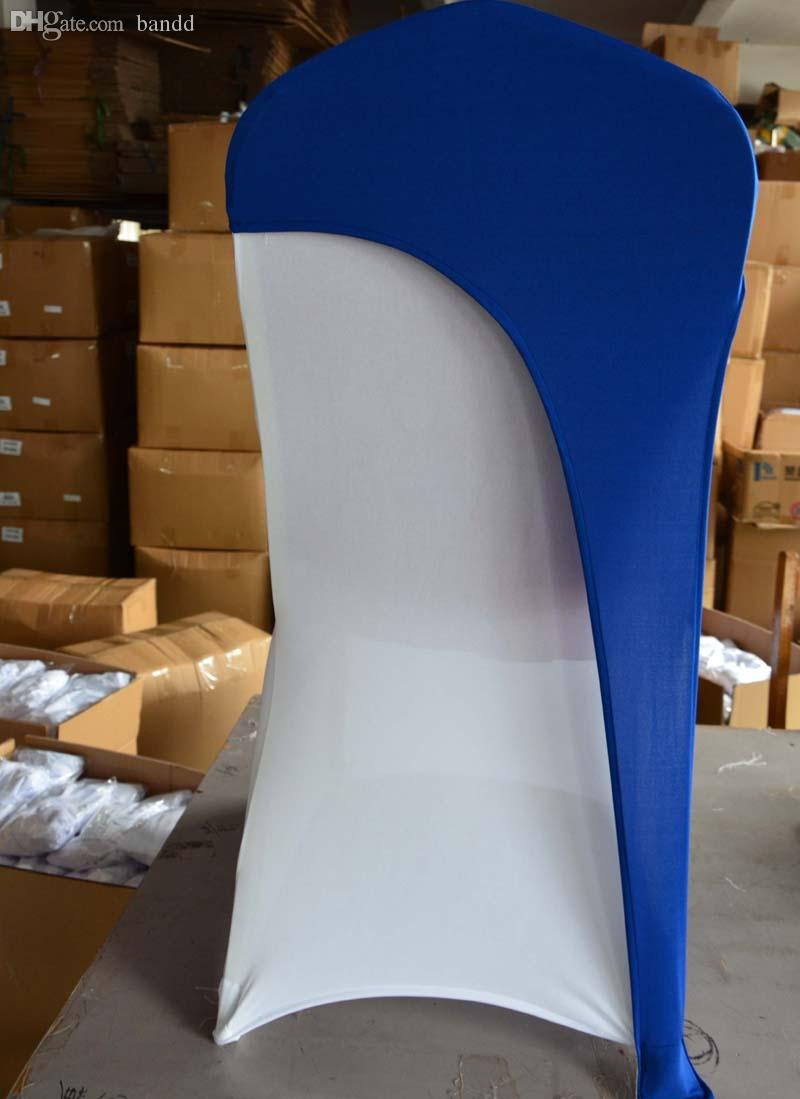 wholesale royal blue spandex chair hoods lycra stretch chair caps