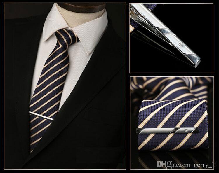 Homens Moda Tie PinsTie clip Mix estilos de casamento dos homens Tie Tie Jóias terno gravata acessórios Mens Presente