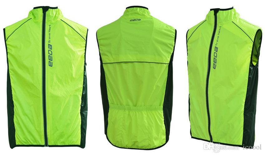 Novo Respirável À Prova de Vento Jaqueta de Ciclismo Equitação Roupas Sem Mangas Colete Homens Mulheres Waterpoof Jaqueta de Bicicleta MTB Bicicleta Sem Mangas Vento Casaco