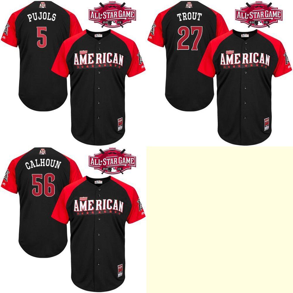 c2af83b2cf1 ... 2017 American League 2015 All Star Bp Jerseys MenS Los Angeles Angels 5 Albert  Pujols 27 ...