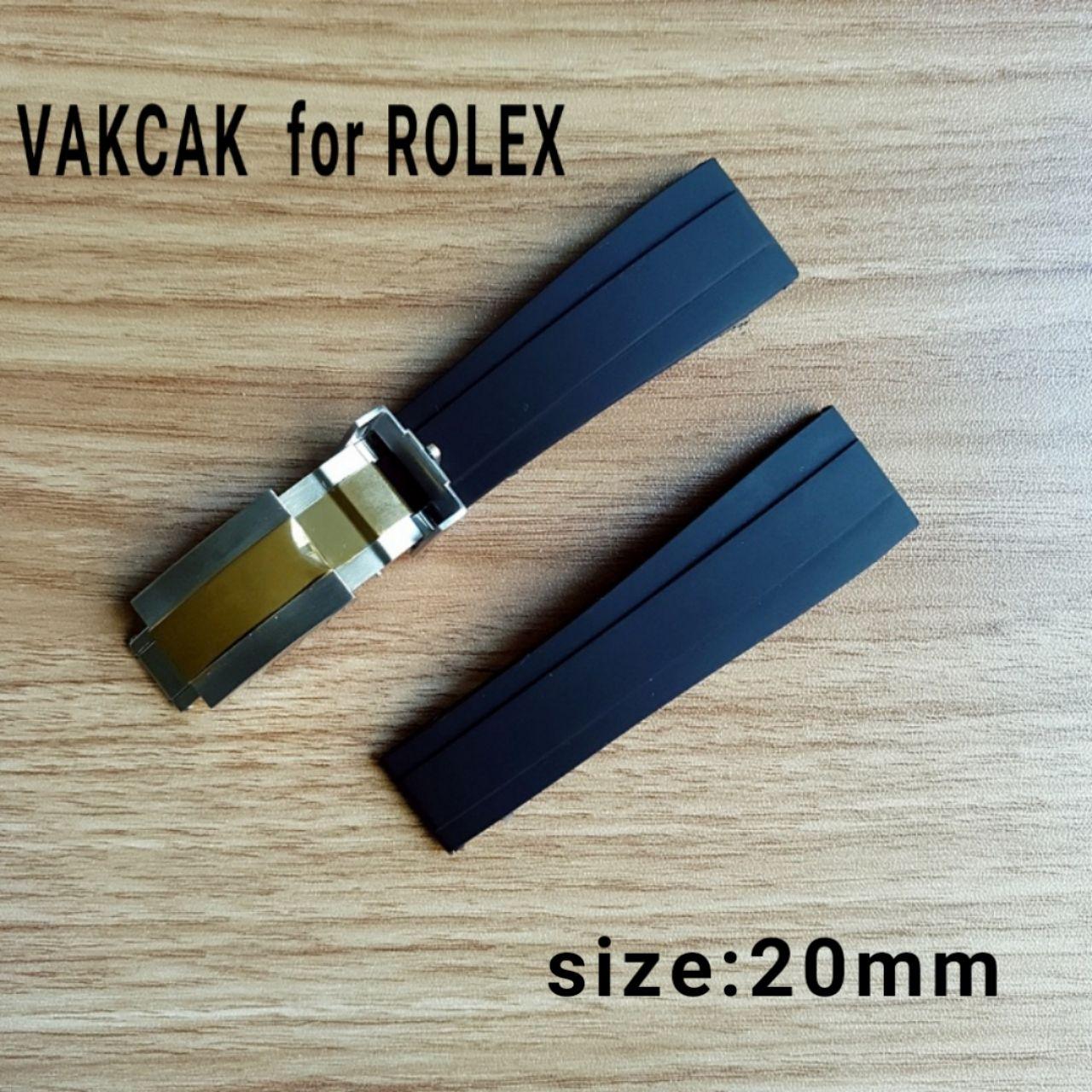 20mm boyutu kayış ROLEX SUB için fit / GMT / YM yeni yumuşak dayanıklı su geçirmez bant izle aksesuarları ile gümüş orijinal çelik kapat ...