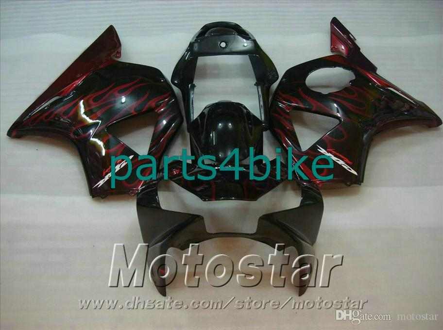 Kit de carenado de moldeo por inyección para carenado Honda CBR900 RR 954 02 03 Carrocería CBR 954RR CBR900RR 2002 2003 carenado rojo carenado negro YR95