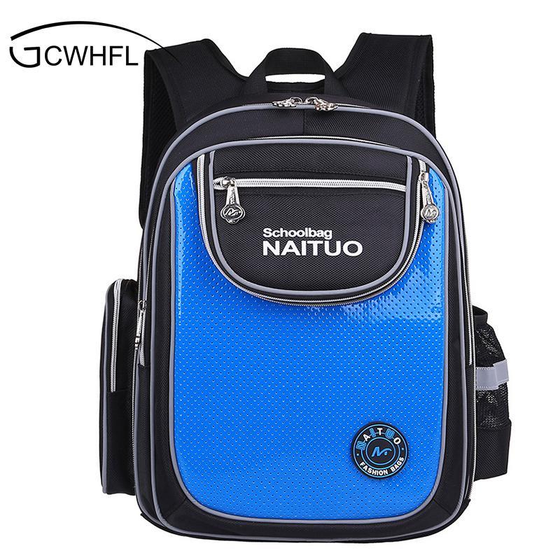 ee5743c9e460 2017 Orthopedic Boys School Bags Children Backpack Primary Bookbag Girls  Polyester Schoolbags Kids Mochila Infantil Reflective Safety Bags Messenger  Bags ...