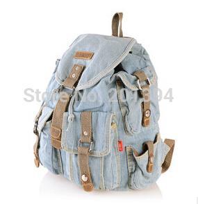 KISS KAREN Cowboy Fashion Denim Casual Daypacks Women Backpacks Retro Style Backpack Bags Jeans Ladies Travel backpack Bag