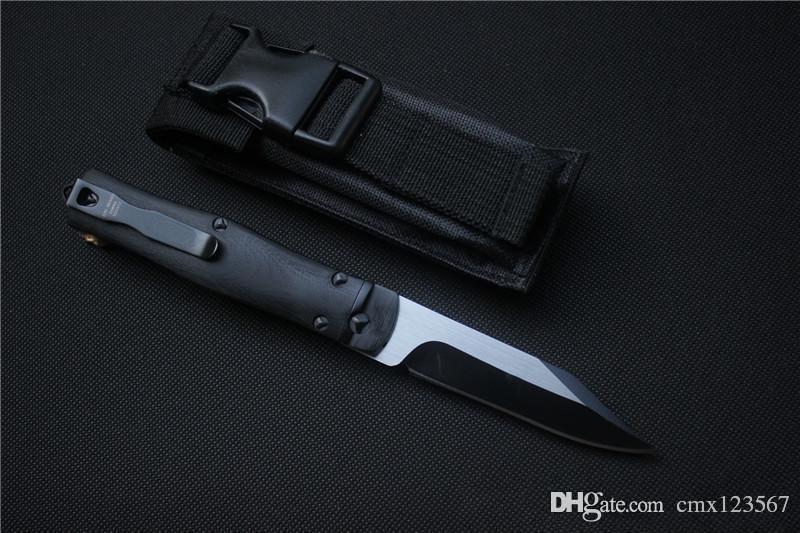 Ücretsiz nakliye, yüksek kaliteli MIKER noloji siyah taktik katlanır bıçak, bıçak malzemesi D2, kolu malzeme G10, Perakende, toptan, hediyeler