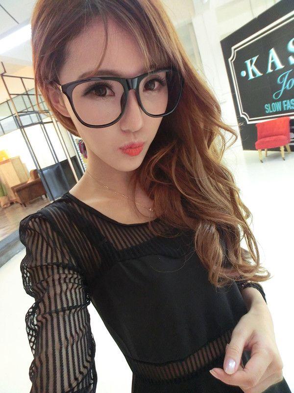 2018 Korea Ulzzang New Oversized Box Retro Glasses Frame Glasses ...