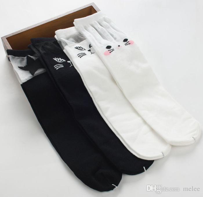 Niedliche Tierkopfbuchstaben Mädchen hohe Socken 15