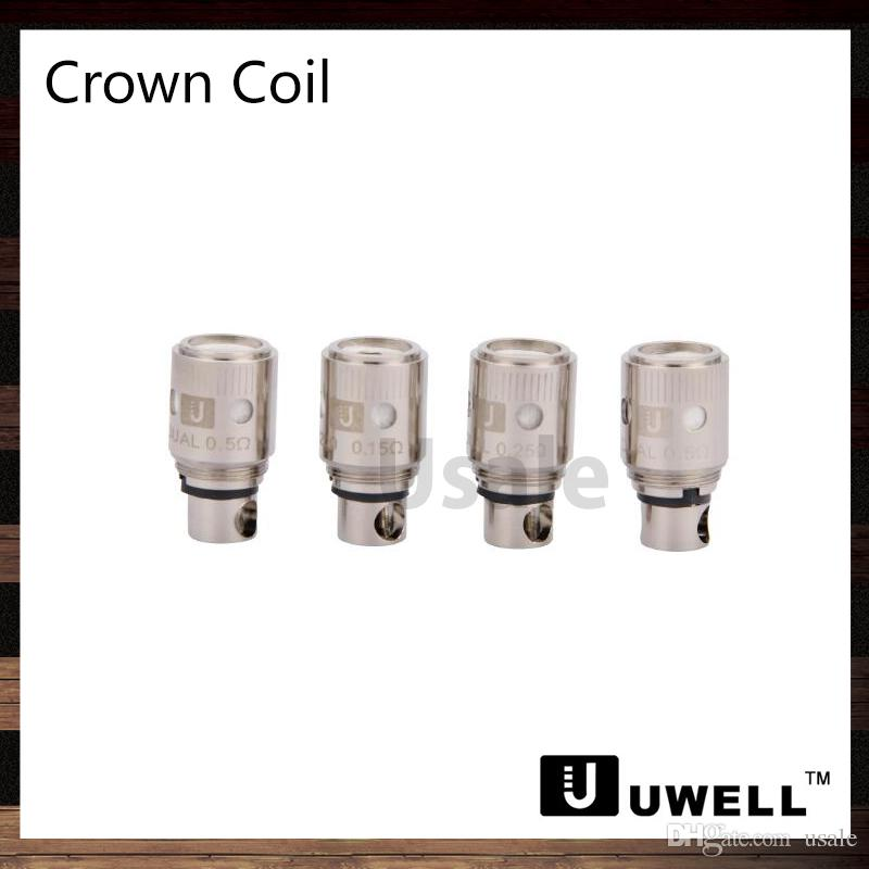 Uwell Crown Tank Sub ohm Dual Coils 0.25 ohm 0.5 ohm 1.2 ohm Single Coil 0.15 ohm Ni200 TC катушки замена короны головка катушки 100% оригинал